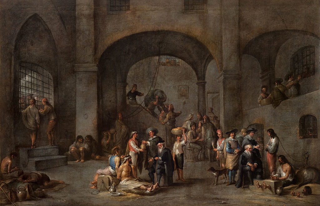 Cornelis De Wael: Látogatás a börtönben (kb.1640)