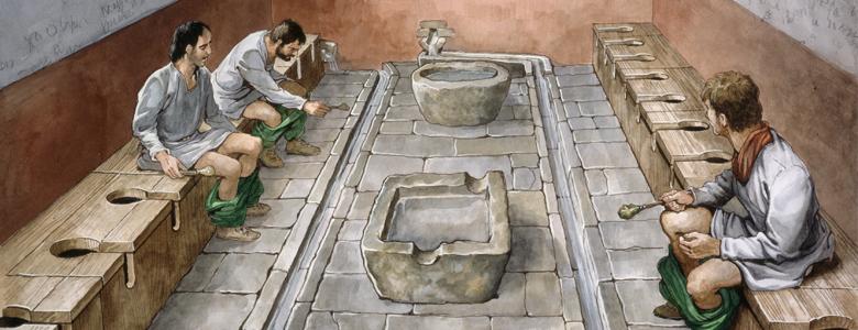 Ilyen volt a rómaiak nyilvános wc-je.