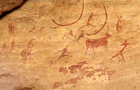 Vadászat ábrázolása a barlangrajzon